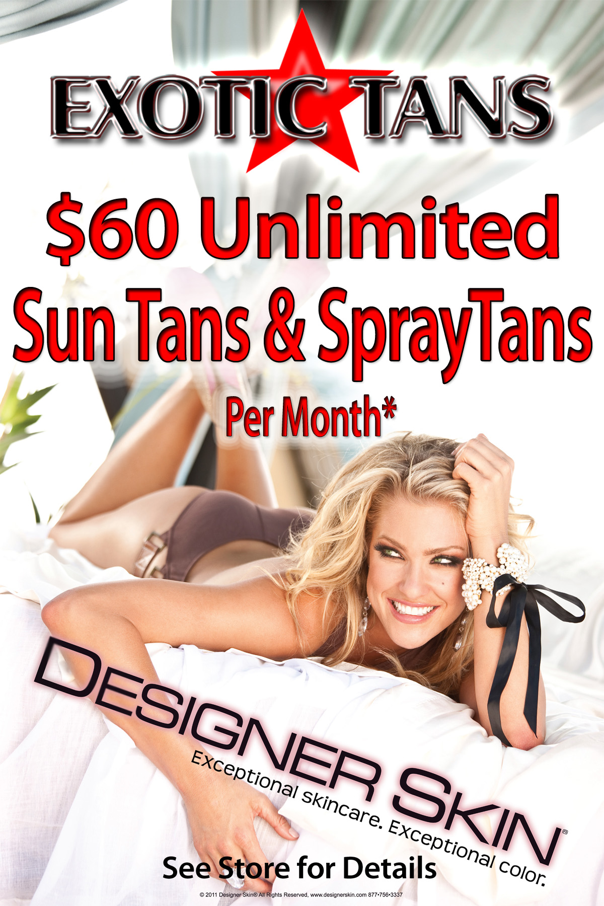 $60 Unlimited Tanning
